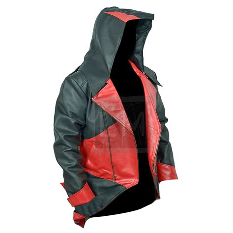 Jaket Assassin Creed 2 assassins creed 3 and black faux leather jacket