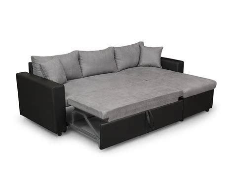 canape d angle convertible reversible canap 233 d angle r 233 versible et convertible avec coffre gris