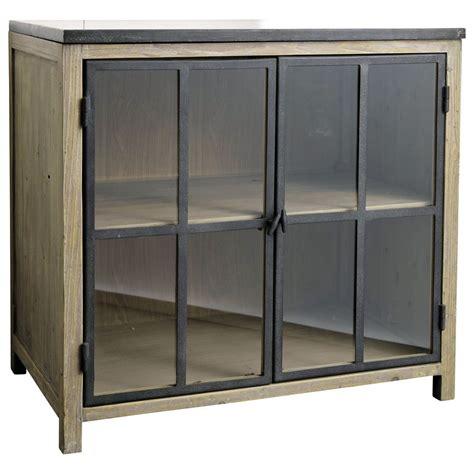 cuisine vitr馥 meuble bas vitr 233 de cuisine en pin recycl 233 vitr 233 meuble