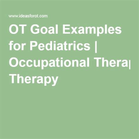 occupational therapy goal setting template 17 best images about occupational therapy stuff on