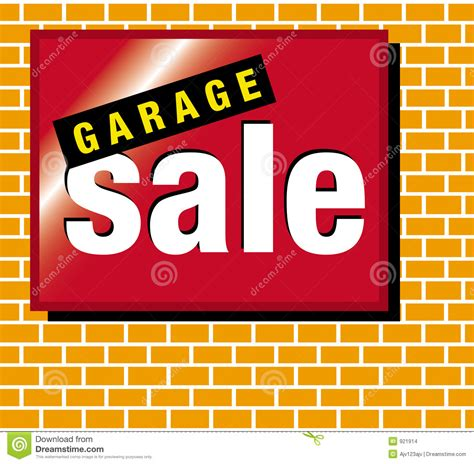signage garage sale stock images image 921914