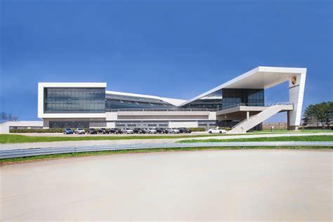 mazda usa headquarters porsche cars news porsche s us hq features its own circuit