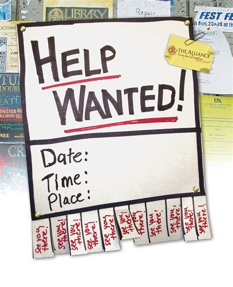 Missions Conference 2005 Help Wanted Ad Template