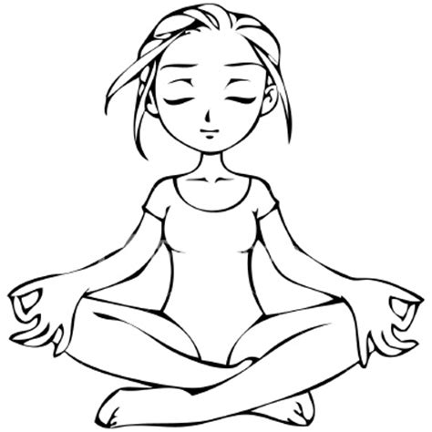 coloring page yoga yoga coloring pages