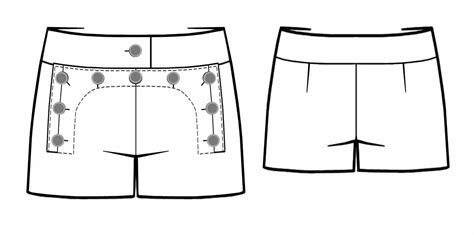 technical drawing pattern development shorts sewing pattern 5465 made to measure sewing