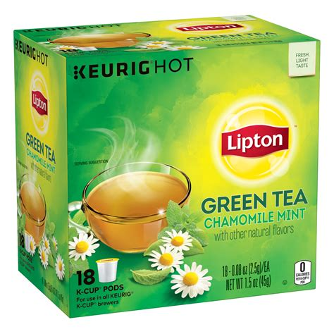 does lipton citrus green tea have caffeine