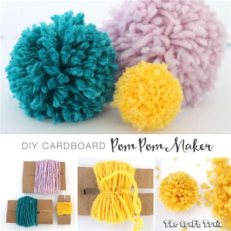 Pom Pom Maker by Diy Cardboard Pom Pom Maker The Craft