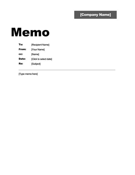 interoffice memo template ms office guru