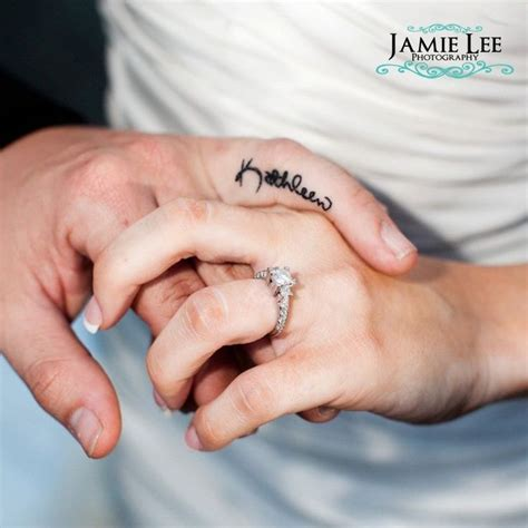ring finger name tattoo designs wedding ring name tattooed onto finger