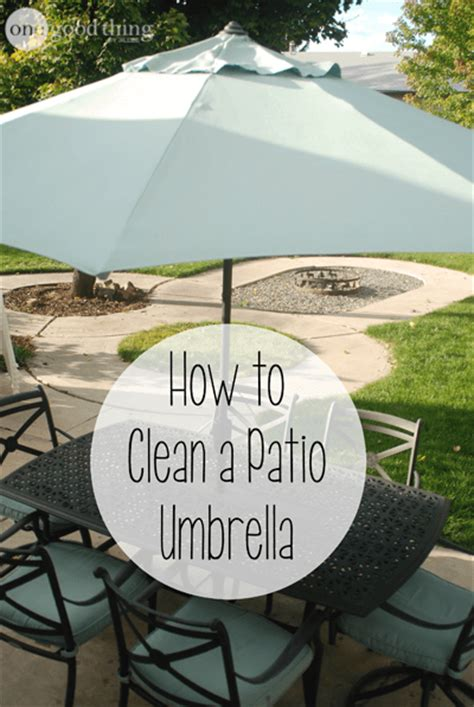 How To Clean Patio Umbrella How To Clean Your Patio Umbrella 183 One Good Thing By Jillee