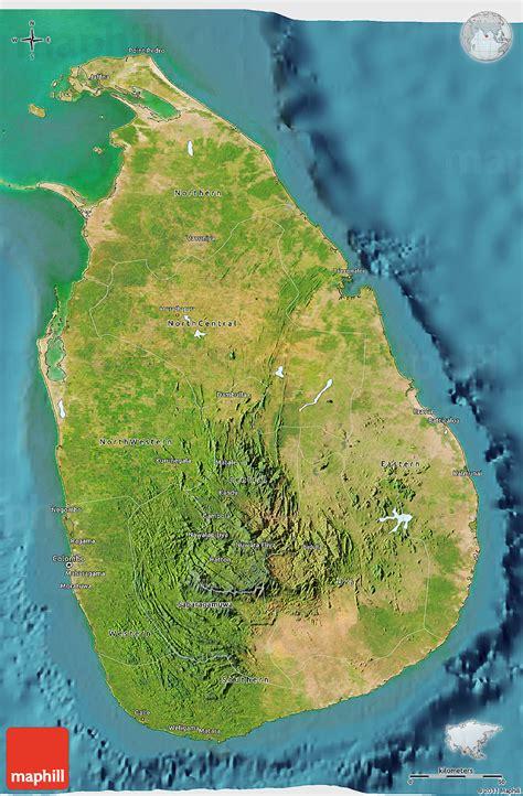 sri lanka satellite map satellite 3d map of sri lanka