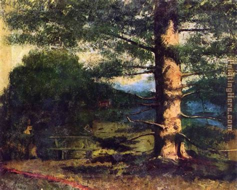 Courbet Sleepers by Gustave Courbet Landscape With Tree Painting Anysize 50