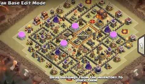 th9 base with war bomb tower 2016 7 th8 5 th9 5 th10 5 war base designs with bomb tower
