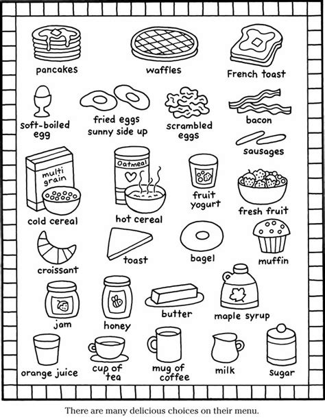 house items coloring pages color it breakfast items coloring pages pinterest