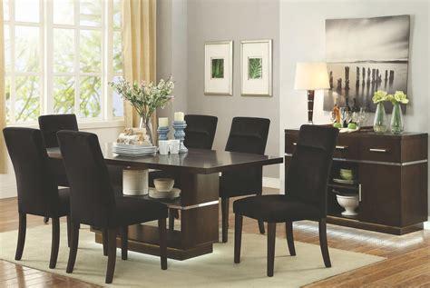 walnut dining room set lincoln dark walnut rectangular dining room set 106891