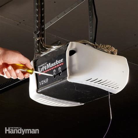 Liftmaster Garage Door Opener Not Working garage door opener repair how to troubleshoot openers the family handyman