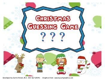 guessing games for christmas 17 best images about december speech therapy ideas on articulation activities