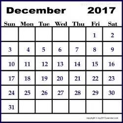 December Calendar Templates by December 2017 Calendar Template Printable