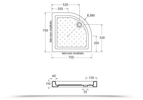 dimensione piatti doccia piatto doccia angolare 75x75cm ceramica design azzurra