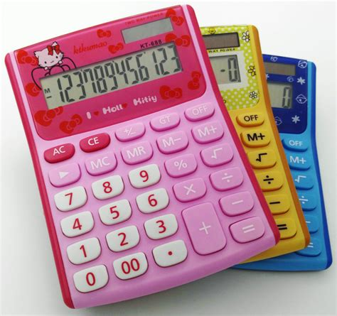 Ronbon Rb2618 Ii Kalkulator 12 Digit 12 digits display pink luxury hello calculator