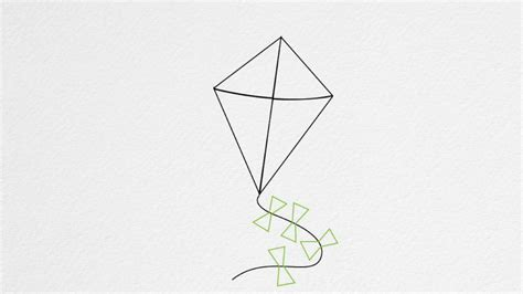How To Make Paper Kites Step By Step - how to draw a kite step by step