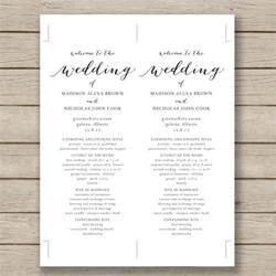 Program Template For Wedding wedding program template 61 free word pdf psd