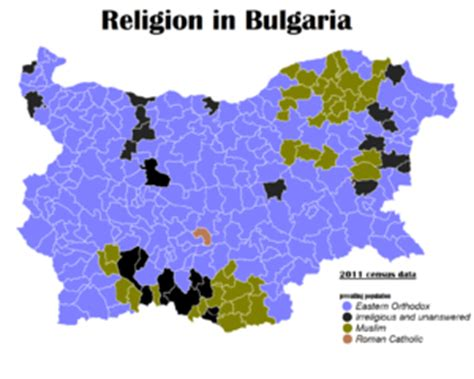 Superb Orthodox Church Beliefs #7: 300px-Bulgaria_religous_map_by_municipalities.png