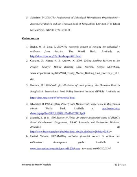 microfinance dissertation dissertation report on microfinance spiritual needs
