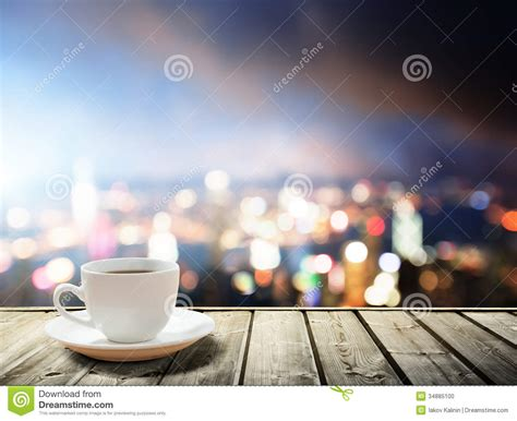 coffee on table stock photo image 34885100
