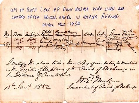 Birth Records Nz About The Dunsford