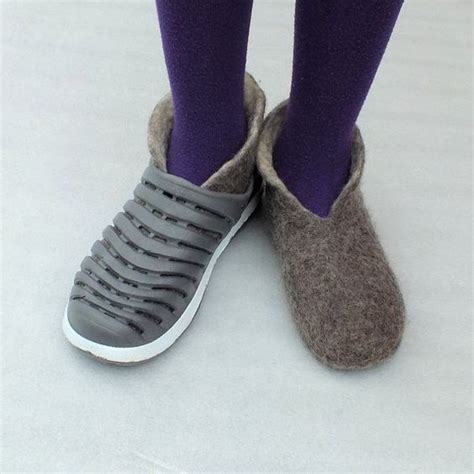 new zealand slippers outdoor booties felted slippers new zealand wool by