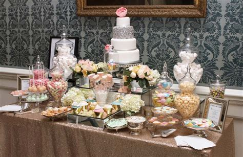 Gold and Pastels Dessert and Sweet Table   Candy Buffets l