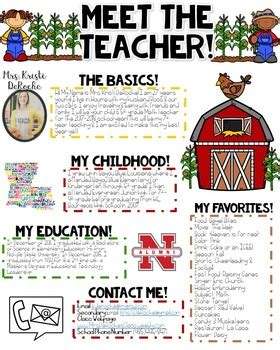 Meet The Teacher Newsletter Editable Farm By Kristi Deroche Tpt Meet The Newsletter Templates