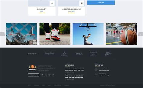 Dragons Basketball Team Multipage Html5 Website Template Basketball Team Website Template