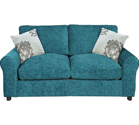teal fabric sofa buy home tessa 2 seater fabric sofa bed teal at argos co