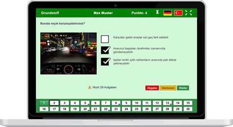 Führerschein Theorie Test Online Kostenlos by F 252 Hrerscheintest In T 252 Rkisch Alle Fragen Online Auf