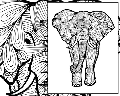 aztec elephant coloring page adult tribal coloring elephant pages grig3 org