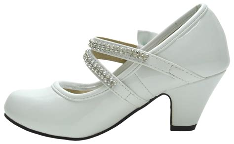 size 2 high heel shoes patent diamante bow velcro high heel
