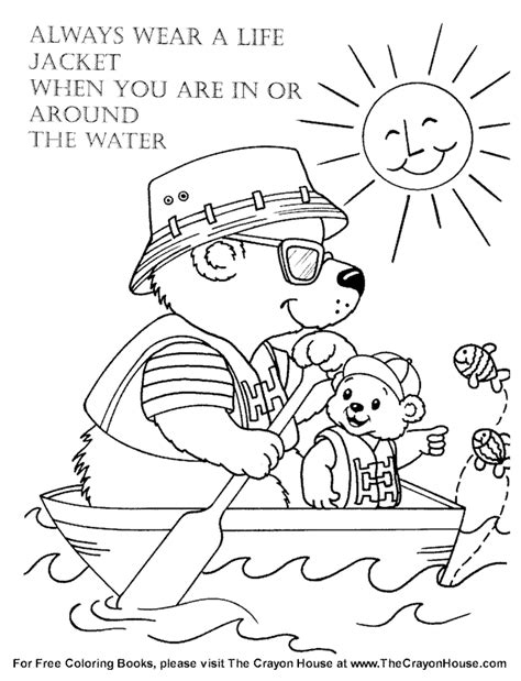 water safety coloring pages az coloring pages