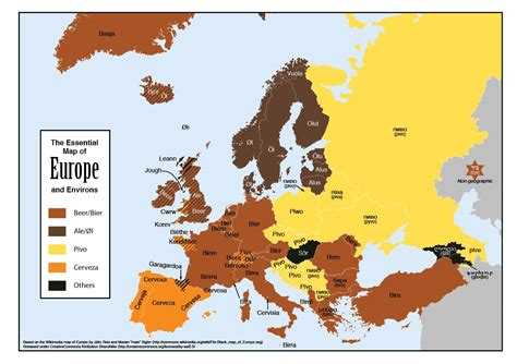 europe map with country names map of europe randommization