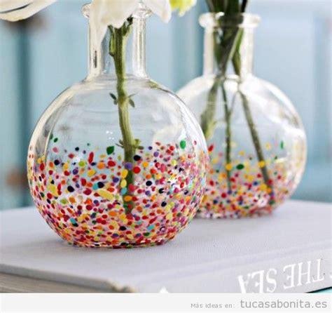 como decorar jarrones de cristal para navidad jarrones diy bonitos y originales para decorar tu csa tu