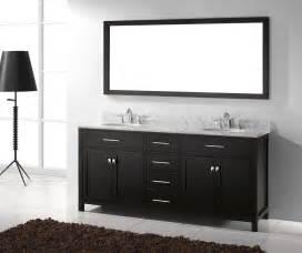Double Bathroom Vanity by Caroline 72 Inch Double Sink Bathroom Vanity In Espresso
