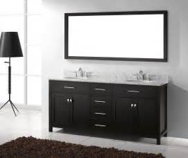 Caroline 72 inch double sink bathroom vanity in espresso