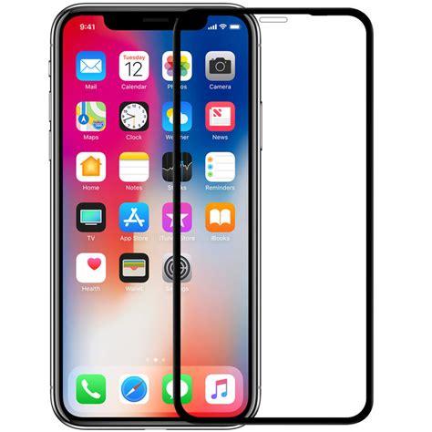 nillkin screen protector for iphone xs max nanometer whole curved edge anti fingerprint