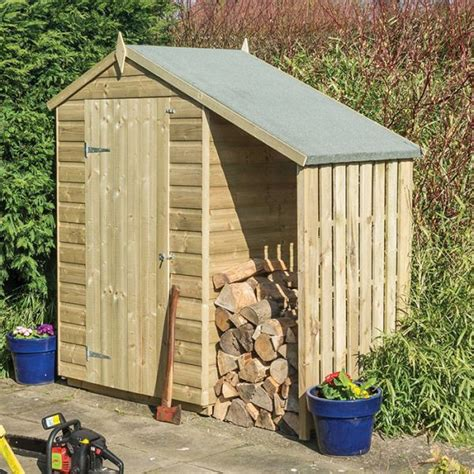 Lean To Wooden Shed by Rowlinson 4 X 3 Pressure Treated Shiplap Apex Shed With