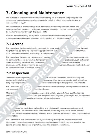 Cdm Health And Safety File Template by Health And Safety File Cdm Template Haspod