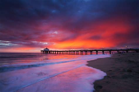 manhattan beach monsoonal sunset  thomas sebourn