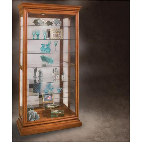 curio with sliding glass door 58251 philip reinisch company old oak manifestation curio