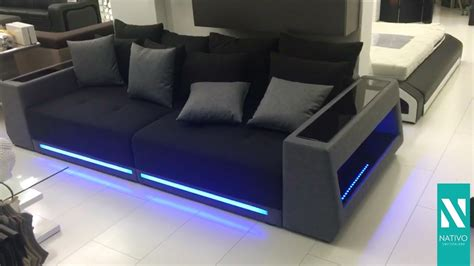 led sofa big sofa mit led b 252 rostuhl