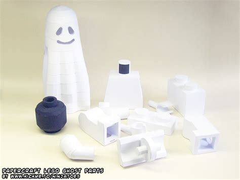 Ghost Papercraft - papercraft lego ghost parts by ninjatoespapercraft on
